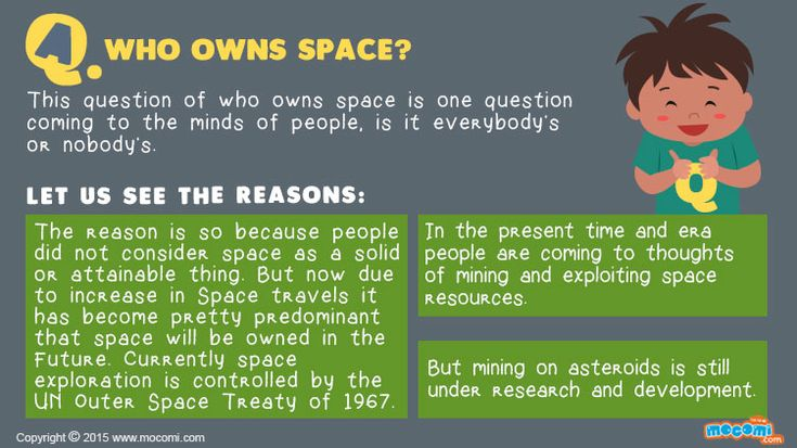 60 best answer me for kids images on pinterest for kids for Who owns outer space
