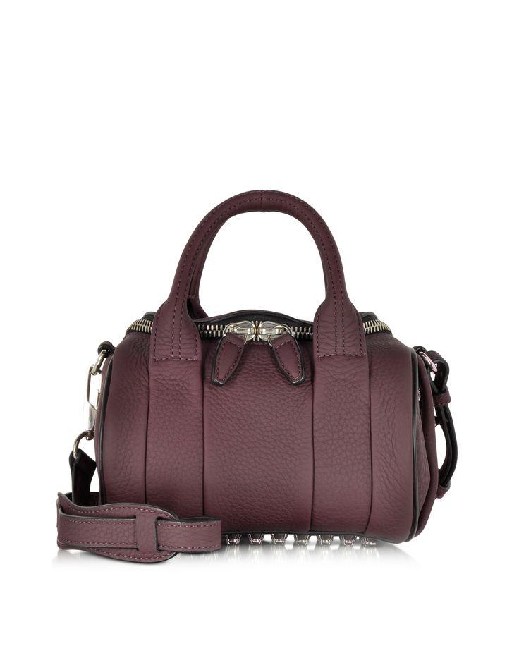 Alexander Wang Mini Rockie Oxblood Matte Soft leather Satchel bag at FORZIERI