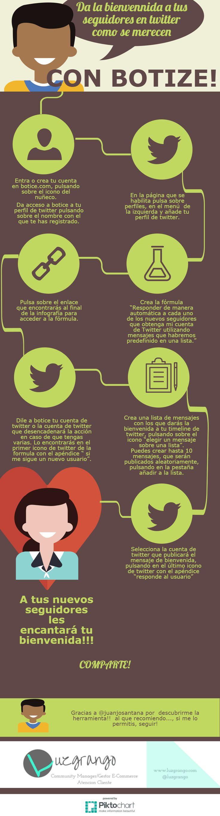 Automatiza tus mensajes de bienvenida en Twitter con Botice #SocialMedia #Twitter