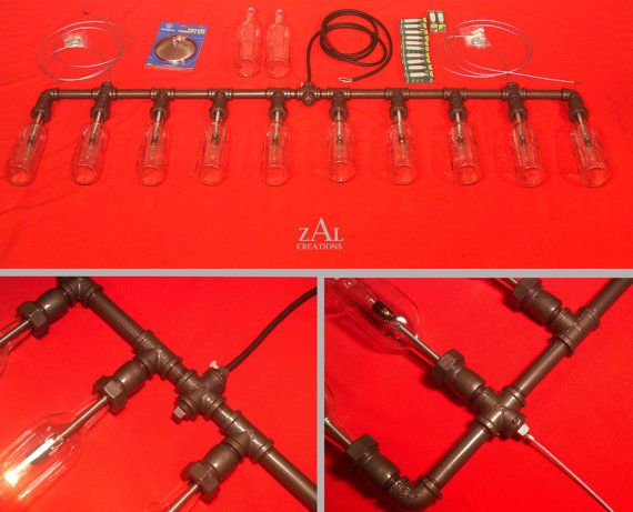 Wine Bottles Suspension Lamp Pendant Light by ZALcreations on Etsy, $750.00