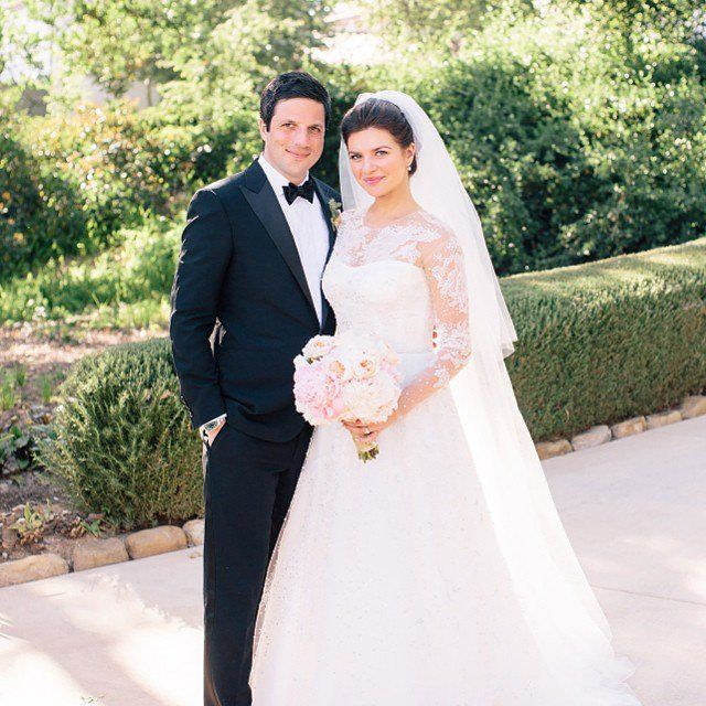 Pin for Later: The Most Stunning Celebrity Spring Weddings Casey Wilson and David Caspe Casey and David made it official in Ojai, CA, in May 2014.