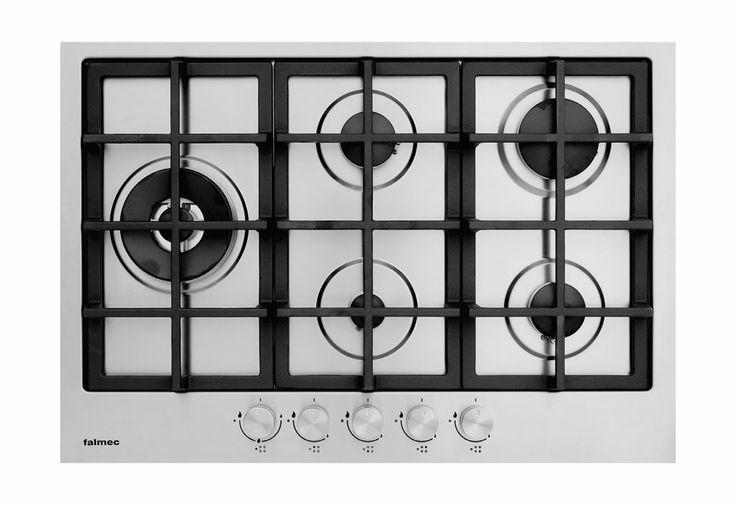 Da linha Gourmet, o Cooktop 75 cm possui um queimador de chama dupla do lado esquerdo. Preço: 2 849 reais. Da Falmec.