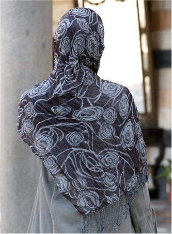SHUKR Canada | Rose Print Rayon Wrap Hijab