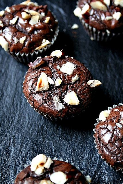 Nutella Fudge Brownie Bites by Le Petrin
