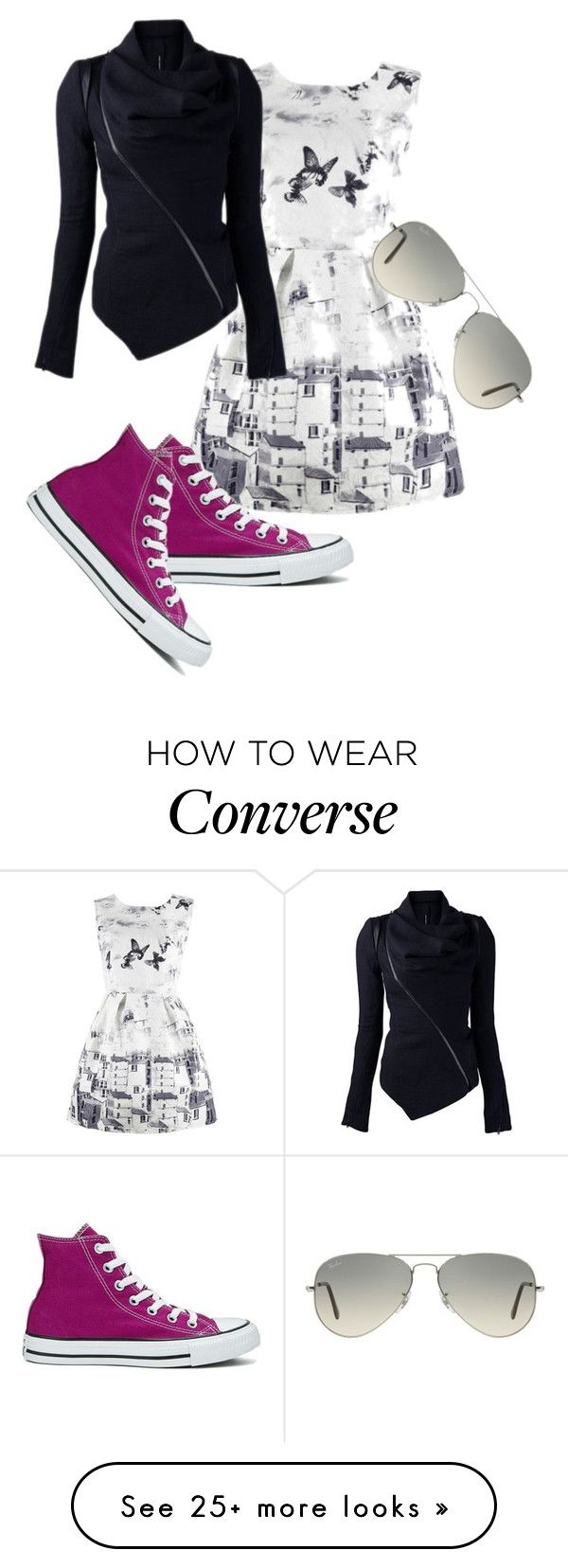 """""""Winter Dress"""" by eventer4ever428 on Polyvore featuring Converse and Ray-Ban"""