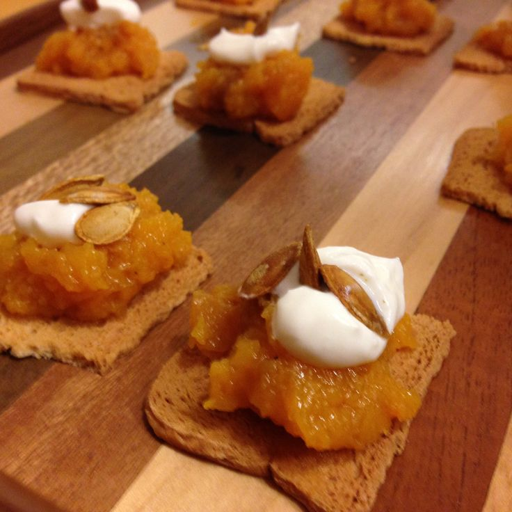 smoked pumpkin with yoghut and spiced pumpkin seeds on. Black Bedroom Furniture Sets. Home Design Ideas