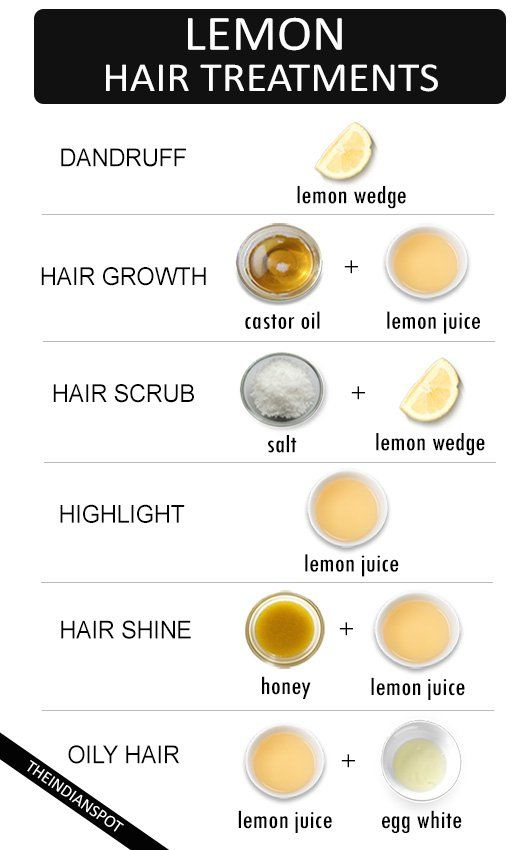 Lemon for hair development