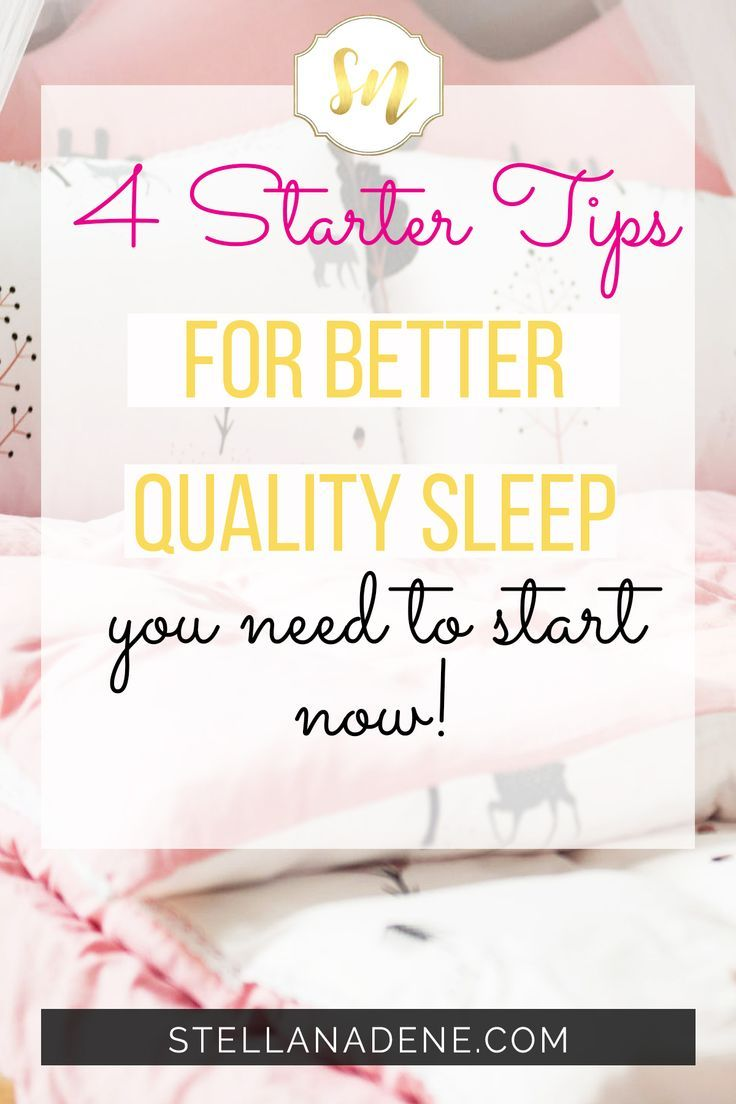 How to get better quality sleep
