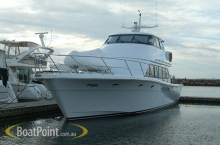 2005 SALTHOUSE 65 - $1,850,000   2 x C18 Catts - 350hrs, fwd helm stn, internal stairs, alfresco, fwd cabin has portholes & hatches, rear helm also