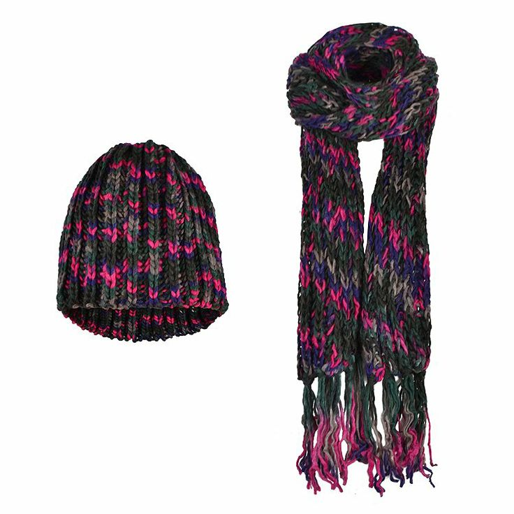 KNITTED SCARF - BEANIE SET
