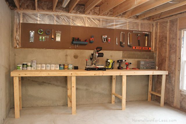 Awesome work bench from How to Nest for Less