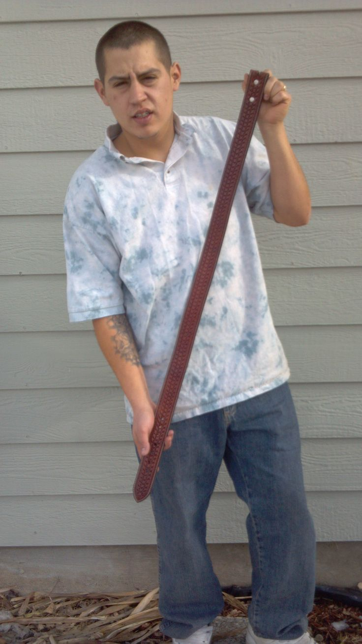 Ted Dean, 12-11  My first student; he made a belt for his wife.  www.slickbald.com #slickbald #leather