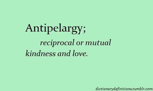 (n.) reciprocal or mutual kindness and love