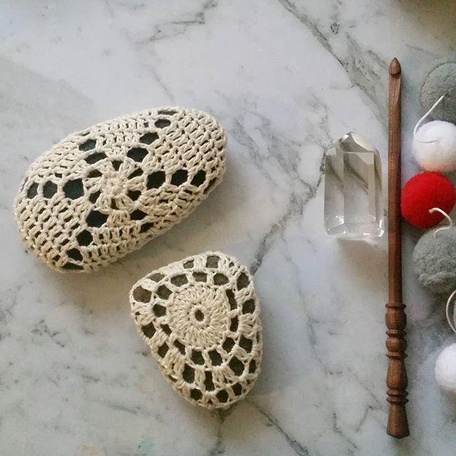 And then there were two. #wamberalstones #crochet #crochetersofinstagram #crochetstones #flatlay