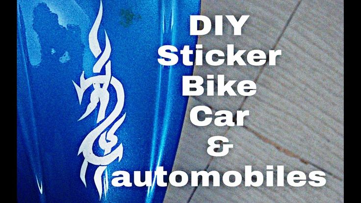 Diy stickering car,bike and automobiles