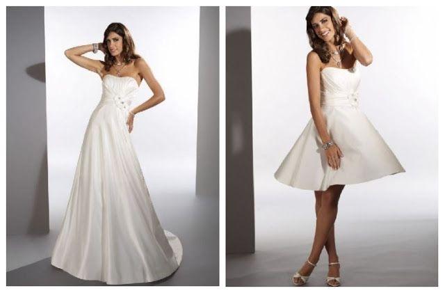 Convertible wedding dress detachable skirt bridal for Removable skirt wedding dress davids bridal