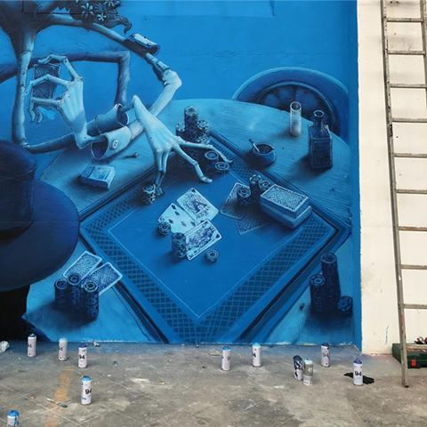 MAYE for the festival Colorama in Biarritz, France, in progress