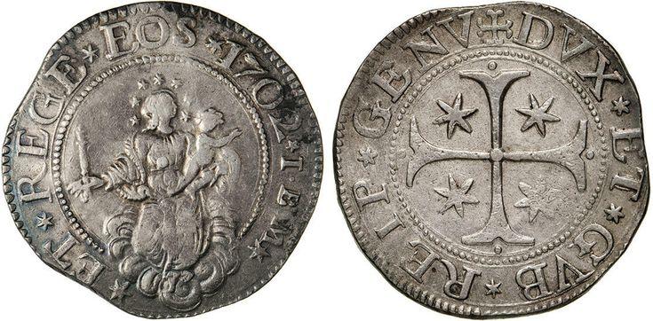 NumisBids: Numismatica Varesi s.a.s. Auction 65, Lot 383 : GENOVA - DOGI BIENNALI, III fase (1637-1797) Scudo 1702, sigle IBM....
