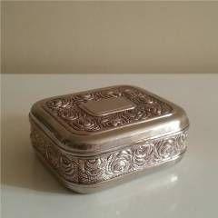 EL_CASA -Antika Pirinç Mücevher Kutusu