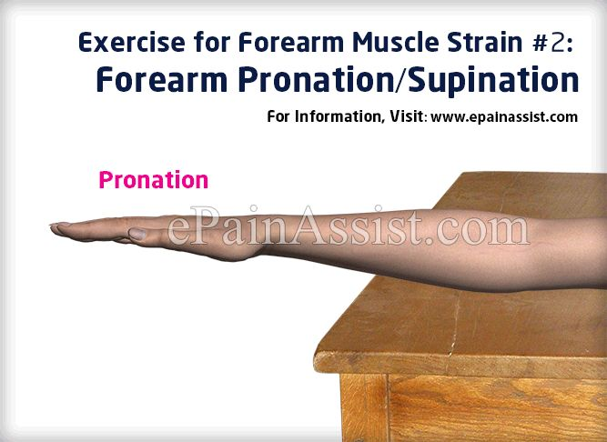 Exercise for Forearm Muscle Strain #2: Forearm Pronation/Supination