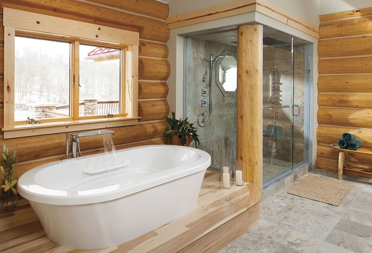 log home bathrooms ideas Dream Home Pinterest Log Home