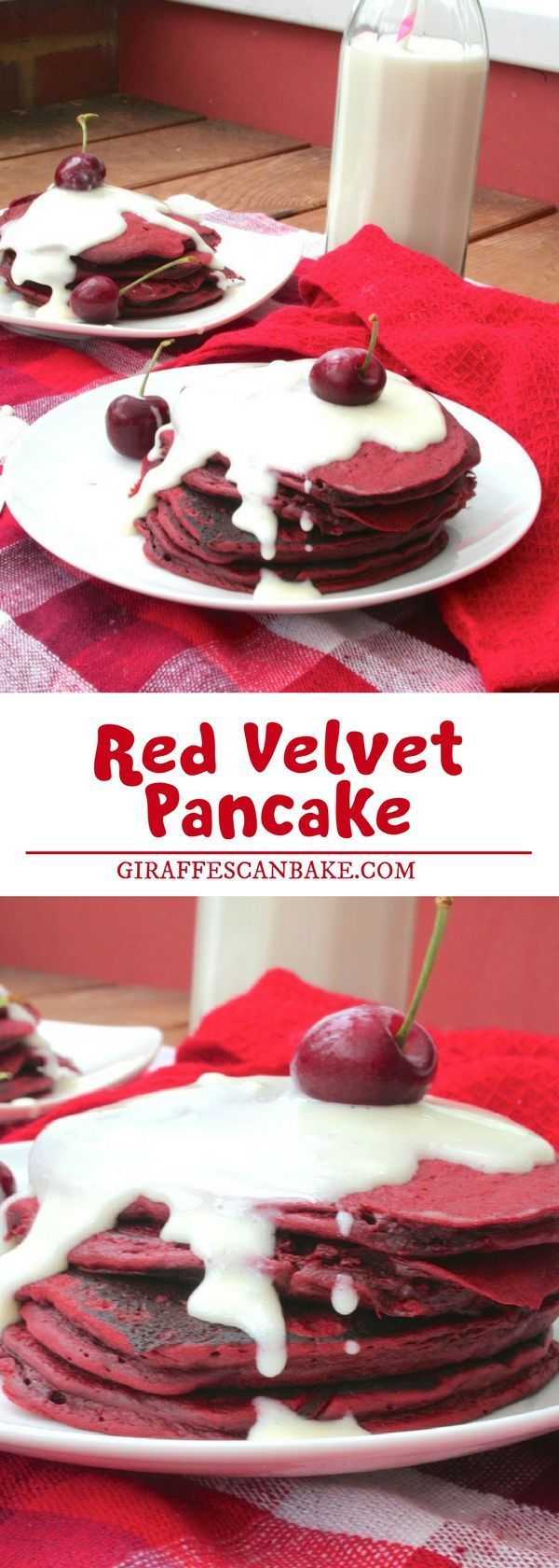 Have you thought about baking something easy, healthy, breakfast recipe ideas like pancake for Valentine's Day? And what better way to celebrate than with red velvet pancakes? They're full of love and yummy goodness! #pancake #breakfastrecipe