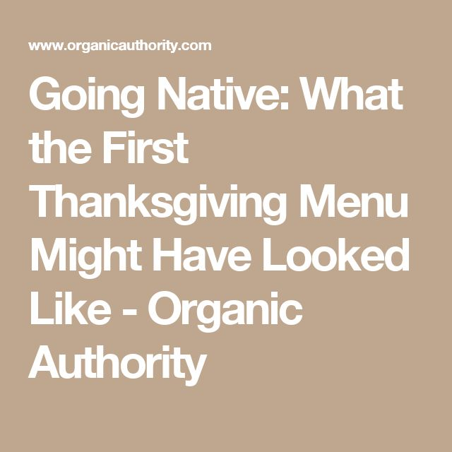 Going Native: What the First Thanksgiving Menu Might Have Looked Like - Organic Authority