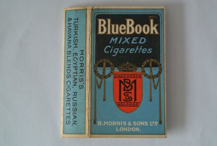 "B.MORRIS, ""BLUE BOOK""10 SIZE CIGARETTE PACKET. 