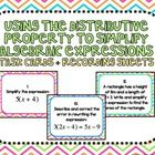 Using the Distributive Property to Simplify Algebraic Expressions Task Cards and Recording Sheets  This set of 20 task cards covers the Using the D...