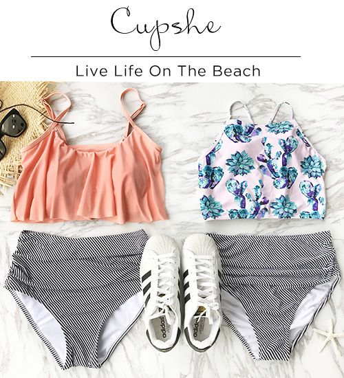 Live life on the beach. This high-waisted swimwear will flaunt their hot curves and figures on summer beaches. You can do it with this pieces. Shop now.