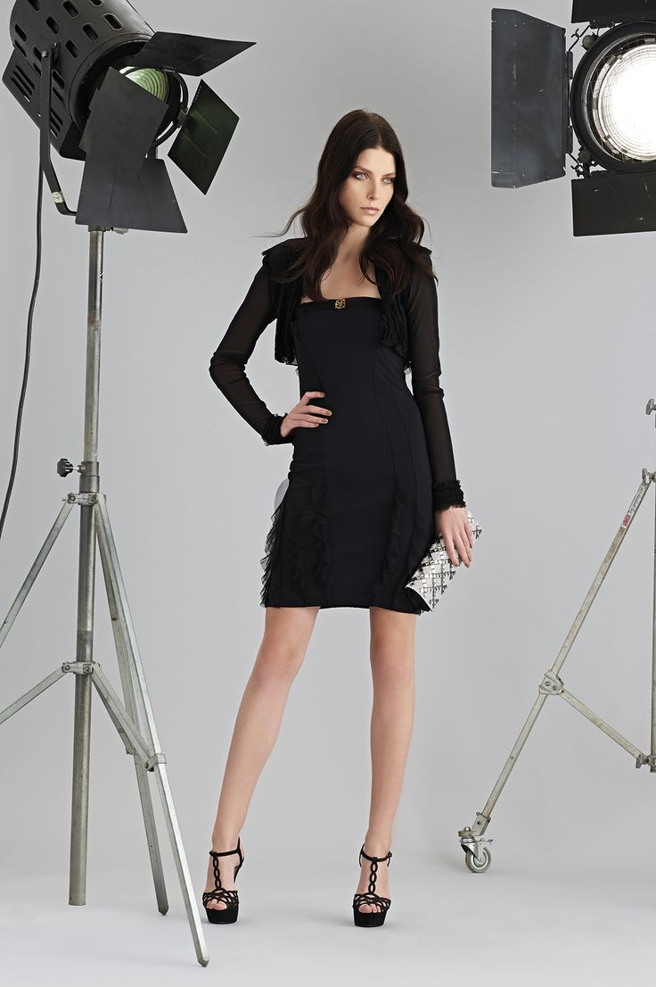 Sonia Fortuna Spring Summer Collection 2015 Black Dress