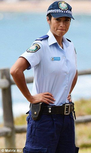 Actress Pia Miller plays Cst Kat Chapman on Aussie TV show, Home & Away. www.PoliceHotels.com