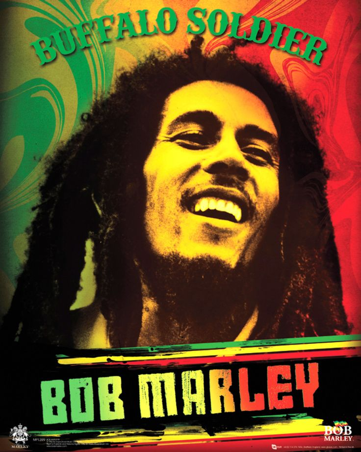 Bob Marley - Buffalo Soldier - Official Mini Poster. Official Merchandise. FREE SHIPPING