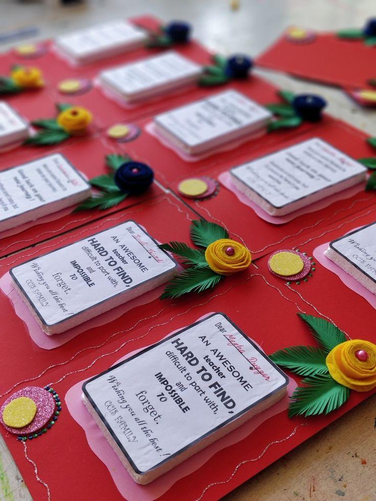 farewell card for teachers  teacher cards farewell cards