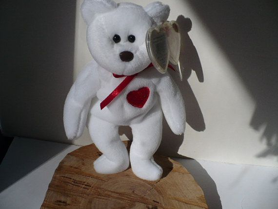 New Listing in our Etsy shop...Valentino Bear Beanie Babies Toy Bear Soft $15.99 new retired collectible by PioneerFundraiser