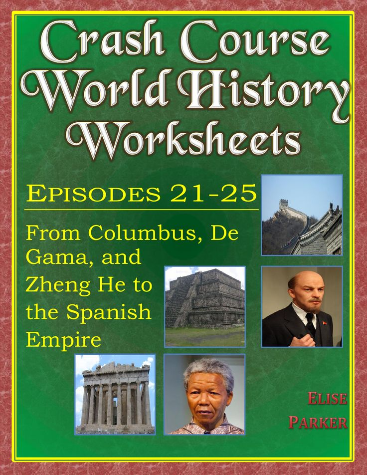 Jazz up your world history classroom with these fun Crash Course World History worksheets that go along with the popular YouTube series! This Crash Course World History packet includes a worksheet, a time-stamped worksheet, and a detailed answer key for five episodes of Crash Course World History:   • Columbus, De Gama, and Zheng He  • The Renaissance: Was it a Thing?  • The Columbian Exchange  • The Atlantic Slave Trade  • The Spanish Empire, Silver, and Runaway Inflation