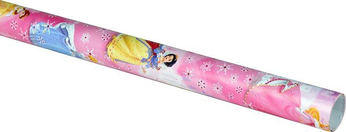 Julpapper Disney Prinsessor, kraftigt papper 2 m, 3104772, juldekorationer, julpynt, julklappsinslagning, paketinslagning, omslagspapper, presentpapper, rosa