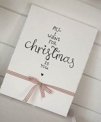 Christmas love note