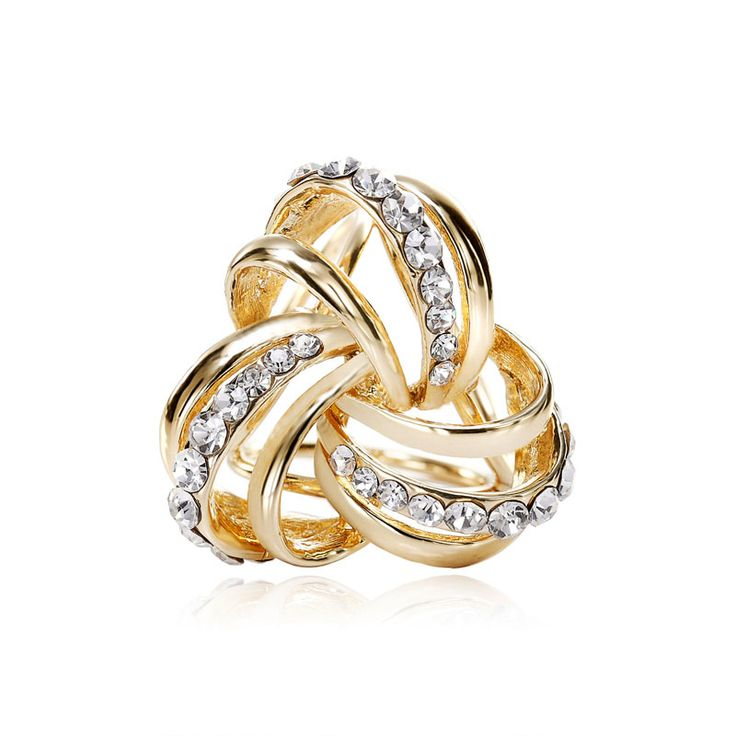 Shop for Scarf Ring Holders, OKA Jewelry Rhinestone Celtic Knot Scarf Accessory Gold is crafted in highly polished gold plated alloy.