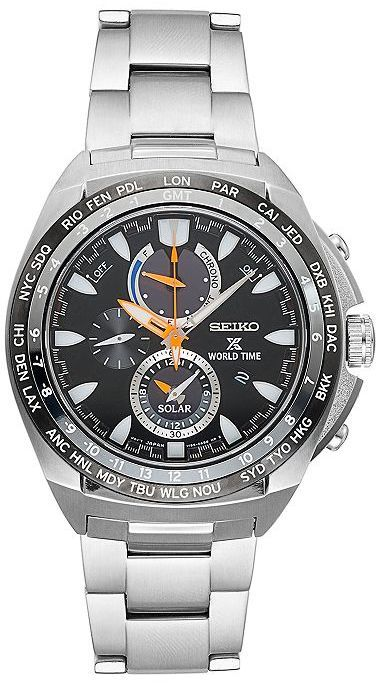 Seiko Men's Prospex Stainless Steel Solar Chronograph Watch - SSC487 #watches #menswatch handsome watch for men of style!