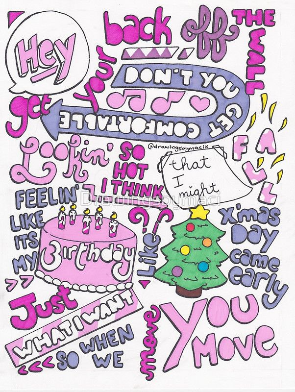 Move by Little Mix Lyric Drawing