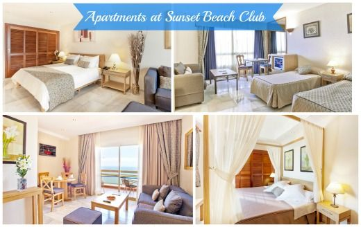 The 6 different apartment types we have at Sunset Beach Club, Benalmadena