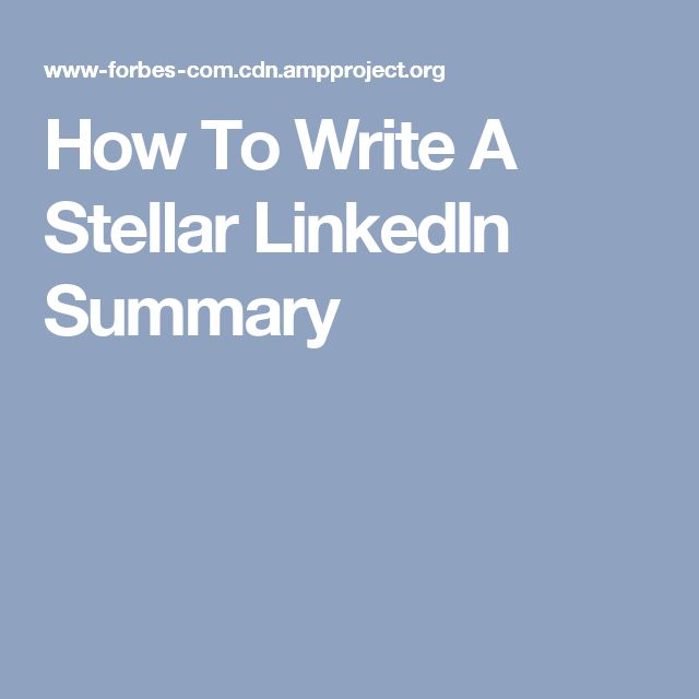 25+ unique Linkedin summary ideas on Pinterest Resume - sample summary statements