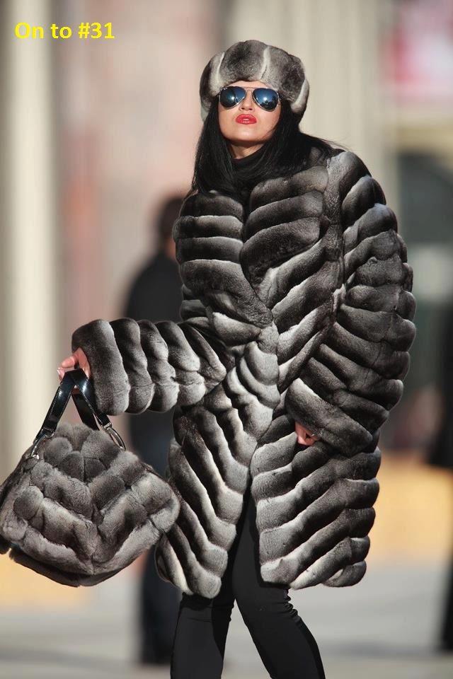 chinchilla fur coat, hat & bag On to board #31