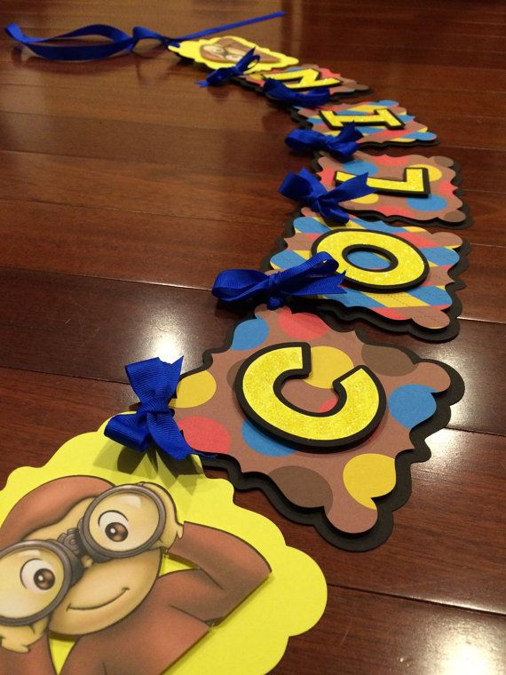 Curious George Banner by WhimzicalCreationz on Etsy
