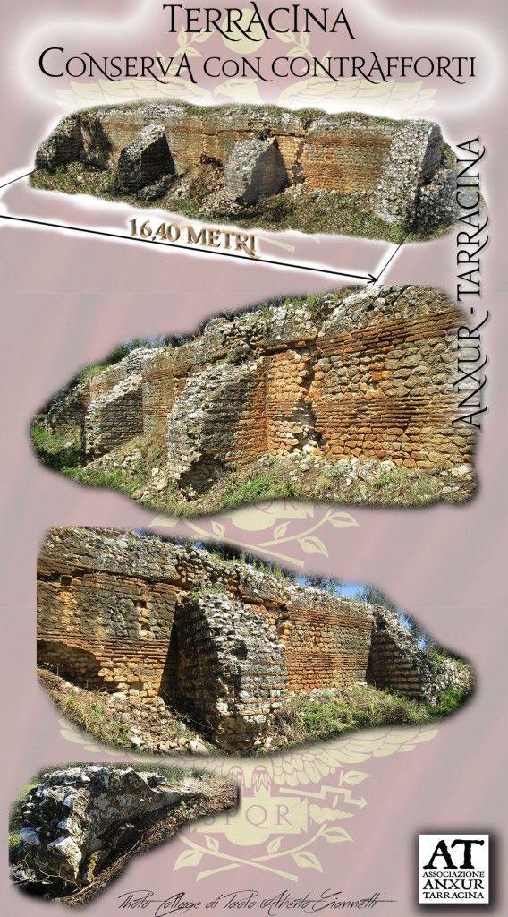 Imperial Roman tank, with buttresses. .... Cisterna Romana, di epoca imperiale, con contrafforti.