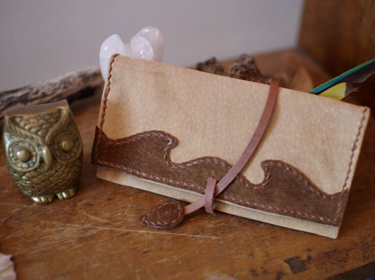 Light Brown & Brown Colored Pig Suede