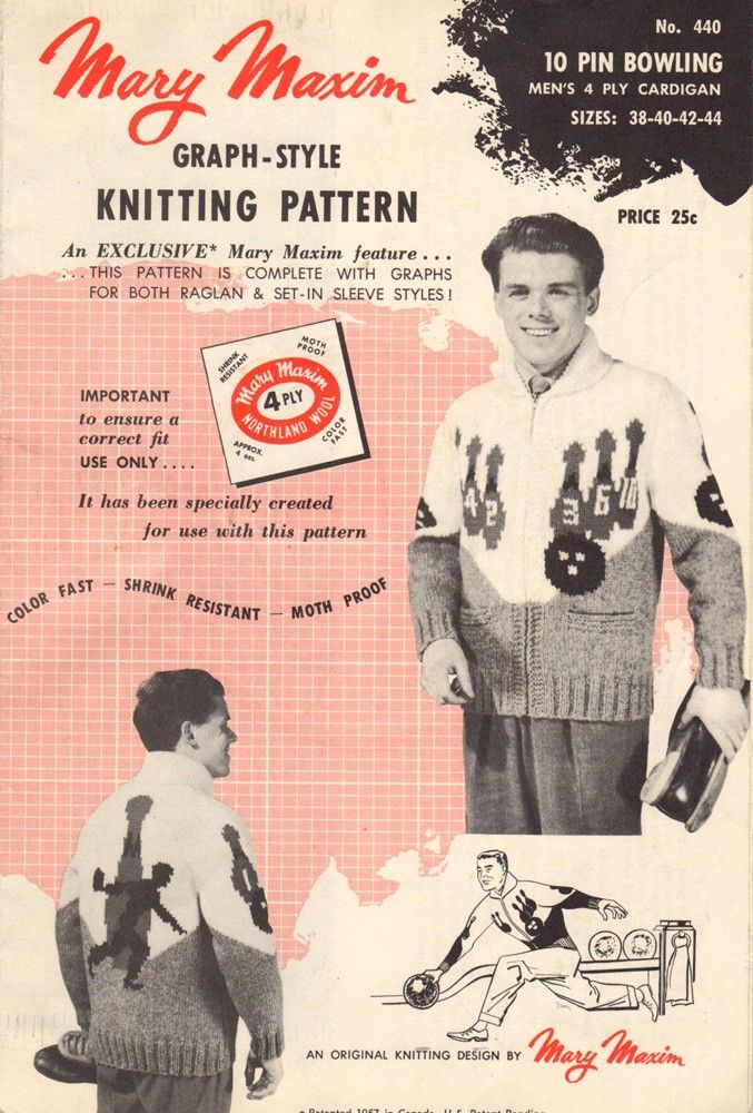 Graph Style Knitting Pattern : 34 best images about Mary Maxim vintage patterns on Pinterest Wolves, Coat ...
