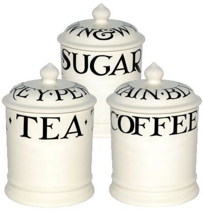 Pottery Pottery, Porcelain & Glass Emma Bridgewater Sugar Coffee And Tea Tins