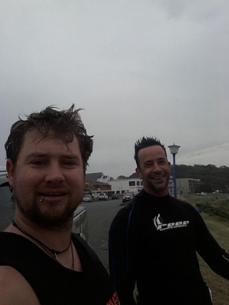 Quinton Schemel and Derrol Bottcher at Gonubie Slipway, South Africa .